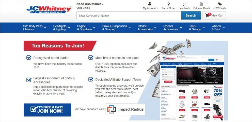 JC Whitney auto affiliate program
