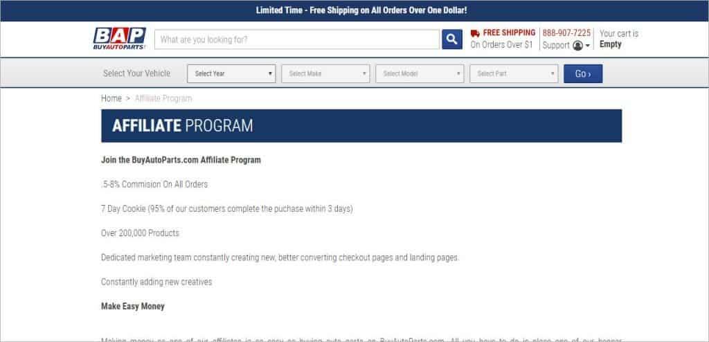 automotive affiliate program